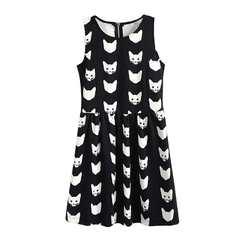 CATS,DRESS,animal dress, sleeveless dress
