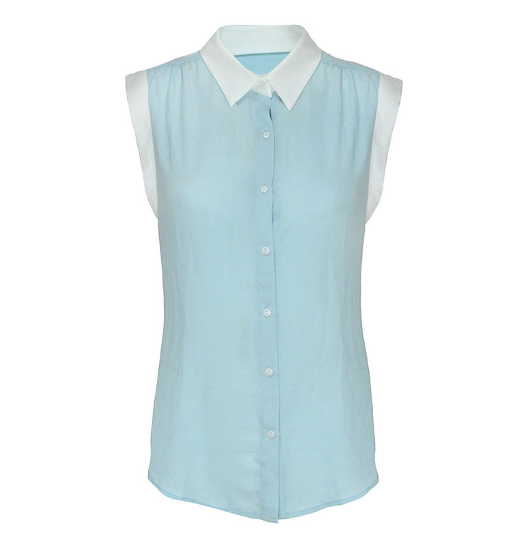 SLEEVELESS LAPEL BLOUSE - product image