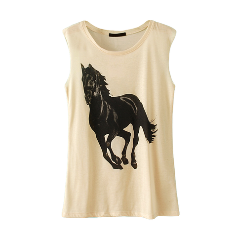 HORSE,TOP,horse vest, horse t shirt, animal t shirt