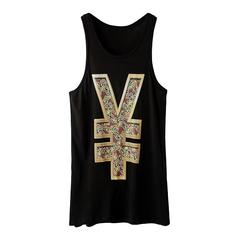 YAN,VEST,dollar sign tee, dollar sign vest, dollar sign t-shirt