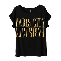 LETTERS,TOP,paris tee, paris t-shirt, paris t