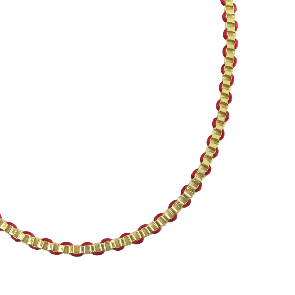 STRING WITH BOX CHAIN NECKLACE - product image