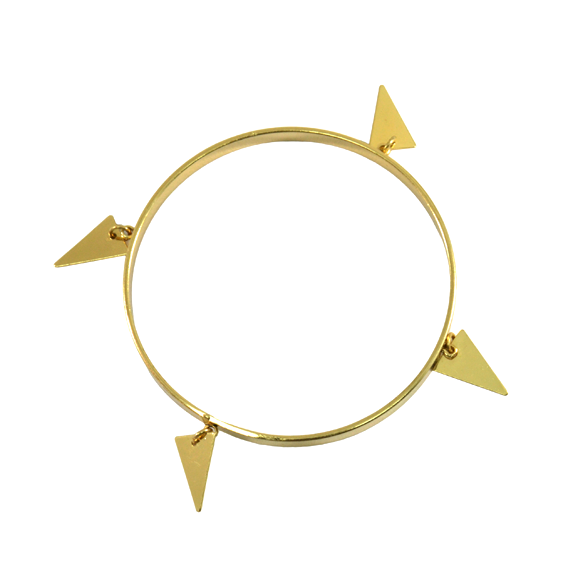 DANGLING TRIANGLE BANGLE - product image