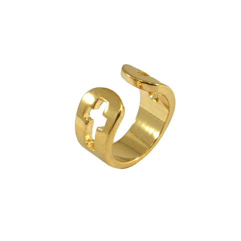 HOLLOW,DOUBLE,CROSS,RING,cut out cross ring, cross jewelry, cross ring gold ring, gold cross ring