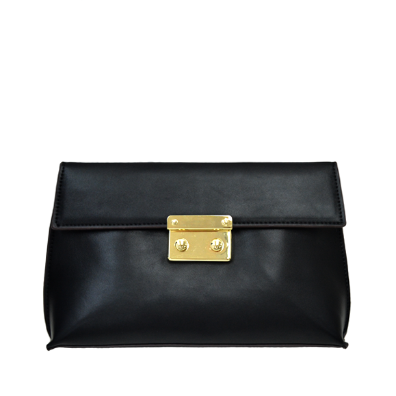 FRONT LOCK CLUTCH BAG - product image