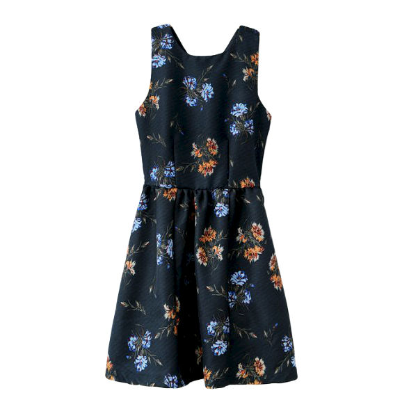 FLORAL CROSS BACK DRESS - product image