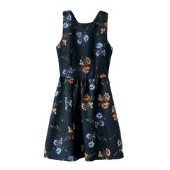 FLORAL,CROSS,BACK,DRESS,tea dress, flower dress, summer dress, elegant dress