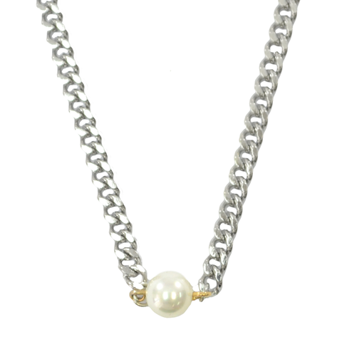 STYLISH,PEARL,NECKLACE,pearl necklace, chunky chain necklace