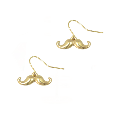 LITTLE,CHARM,EARRINGS,moustache earrings, butterfly earrings, crystal earrings, gold earrings