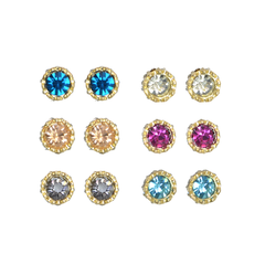 GLAMOURS,CRYSTAL,EARRINGS,minimal crystal ear stud, crystal stud, crystal ear stud
