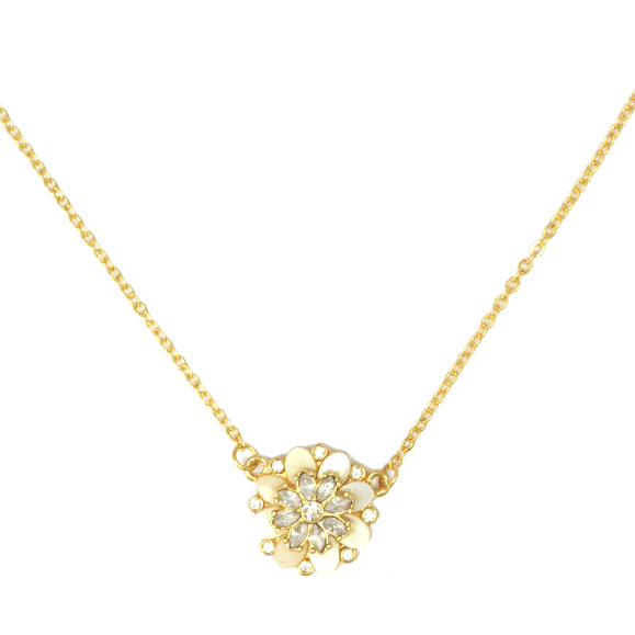 CRYSTAL FLORAL NECKLACE - product image