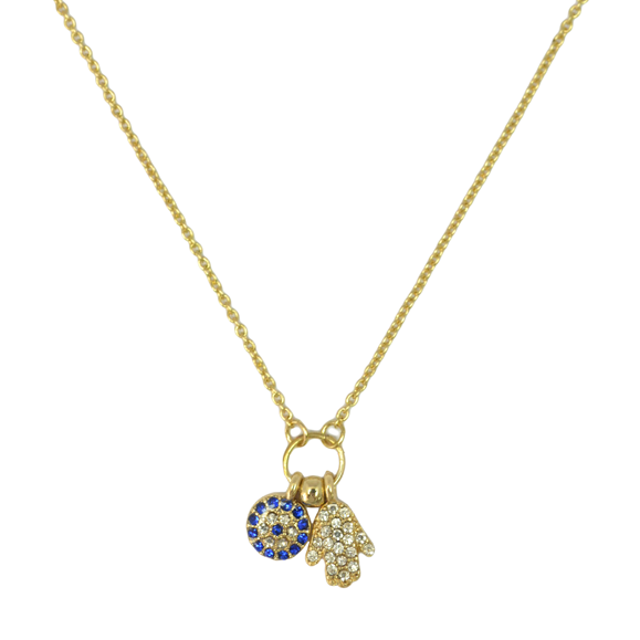 CRYSTAL AND CHARMS NECKLACE - product image