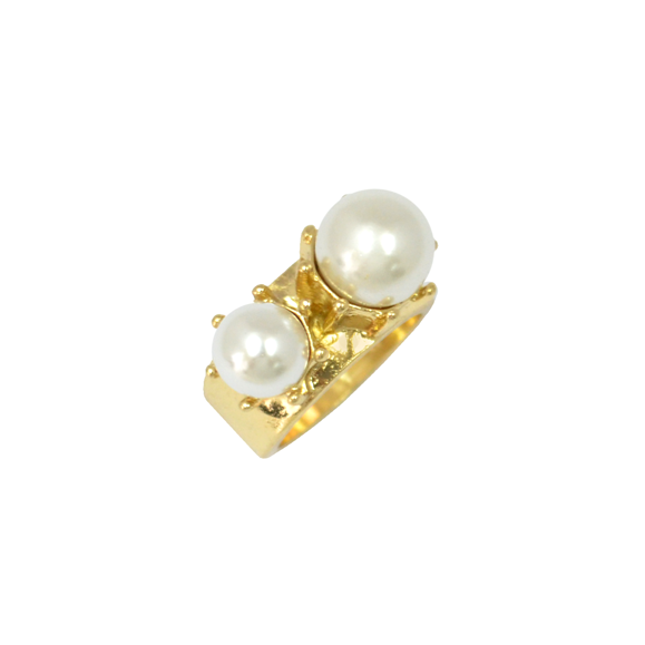 DOUBLE PEARL RING - product image