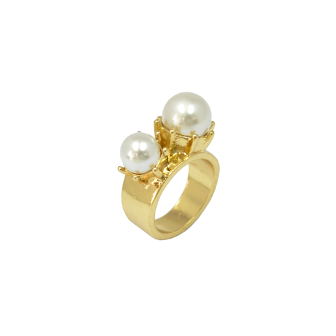 DOUBLE,PEARL,RING,pearl ring, pearls ring, contempary pearl jewelery