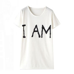 I,AM,TEE,T-shirts, words t shirt, tee, white t