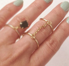 CHAIN,LINK,DOUBLE,FINGER,RING