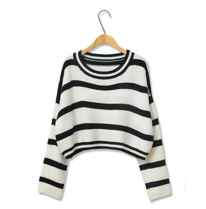 STRIPED,CROPPED,KNIT,SWEATER,CROPPED KNIT SWEATER, CROPPED SWEATER