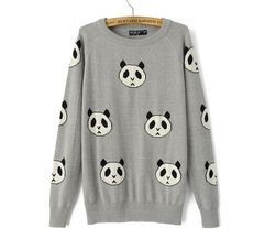 PANDA,KNITTED,JUMPER