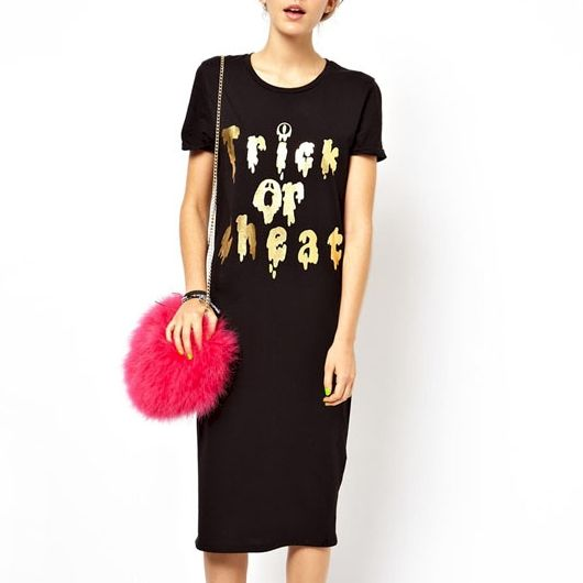 GOLDEN WORDS T-SHIRT DRESS - product image