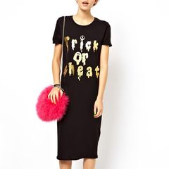 GOLDEN,WORDS,T-SHIRT,DRESS,t-shirt dress