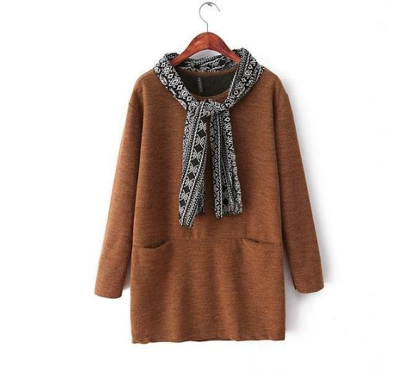 LONG JUMPER WITH SCARF - product image