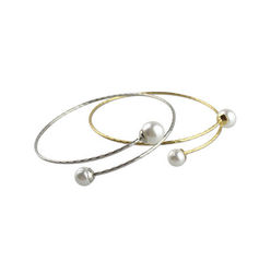 DOUBLE,PEARL,BANGLE,PEARL BANGLE