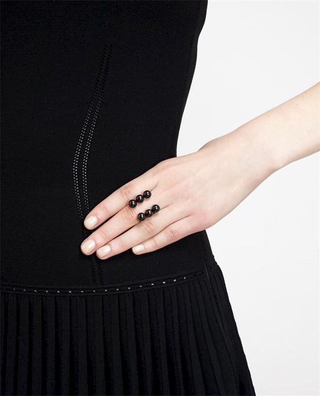 TRIPLE LAYERS WITH PEARL RING - product image