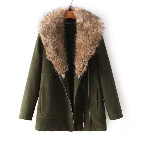 LARGE,FUR,COLLAR,COAT,FUR COLLAR COAT