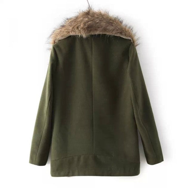 LARGE FUR COLLAR COAT - product image