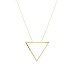 TRIANGLE,LONG,NECKLACE,MINIMAL NECKLACE, LONG NECKLACE, TRIANGLE NECKLACE