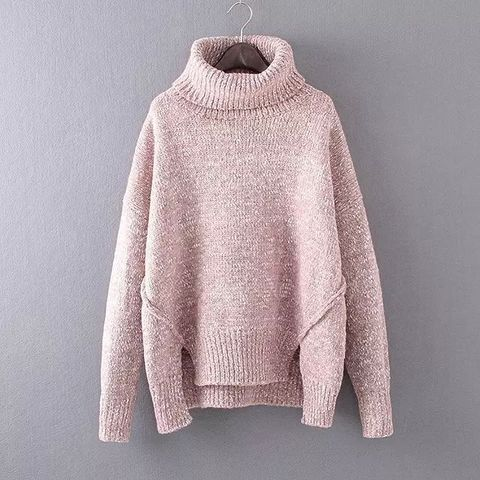 HIGH,COLLAR,SWEATER,loose sweater, oversize sweater, boyfriend sweater, high collar boyfriend sweater