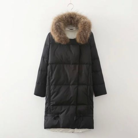DOWN,JACKET,WITH,FUR,COLLAR,DOWN JACKET, FUR COLLAR JACKET, REAL FUR COLLAR, WINTER JACKET, BLACK DOWN JACKET