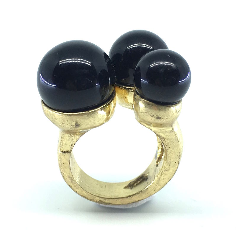 BLACK BERRIESSTONE CHIC RING - product image