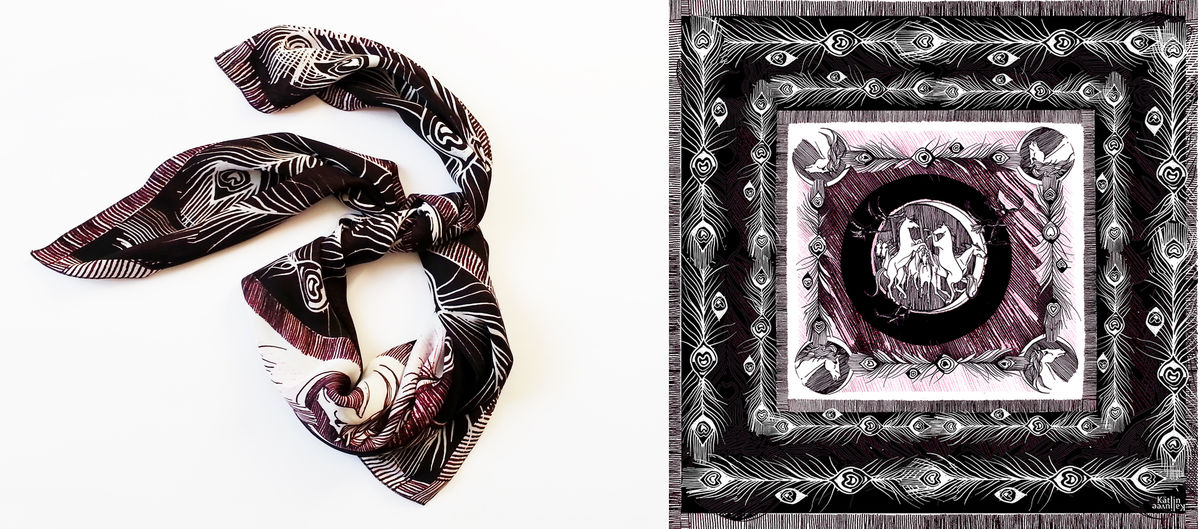 Wild Horses Dark Scarf - product images  of