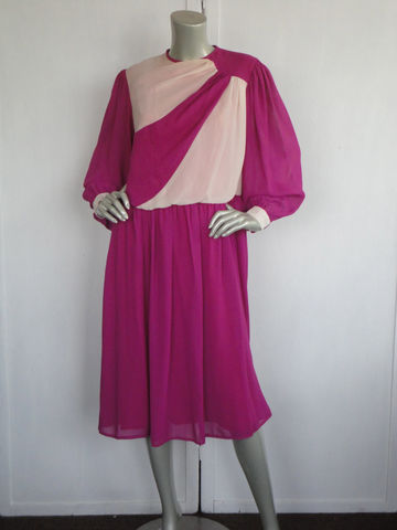 Vintage,Purple,Dress,/,80s,and,Cream,Secretary,Uk,Made,Size,14,Clothing,vintage_purple_dress,purple_dress,80s_vintage_dress,1980s_purple_dress,magenta_dress,off_white_dress,vintage_uk_dress,cinderella_of_london,Uk_size_14_dress,80s_size_14_dress,80s_large_dress,elastic_waist_dress,vintage_office_dress,p