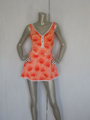 Vintage,60s,Bathing,Suit,By,Gabar,New,York,Size,14,/,Orange,Pop,Art,Swimsuit,Retro,Skirt,Clothing,Swimwear,pop_art_bathing_suit,pop_art_swimwear,retro_bathing_suit,orange_white_bathing,60s_swimwear,60s_bathing_suit,mos_swimsuit,mod_bathing_suit,24_bust_bathing_suit,vintage_60s_swimwear,vintage_60s_bathing,white_60s_suit,gabar_bathing_