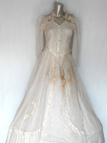 40s,Wedding,Dress,/,Vintage,Gown,With,Lace,and,Hoop,Slip, antique wedding dress, vintage wedding dress, Vintage,Clothing,1940s_wedding_dress,40s_wedding_dress,vintage_wedding,vintage_lace_dress,antique_dress,40s_wedding_gown,1940s_wedding_gown,xs_wedding_dress,edwardian_dress,victorian_wedding,edwardian_w