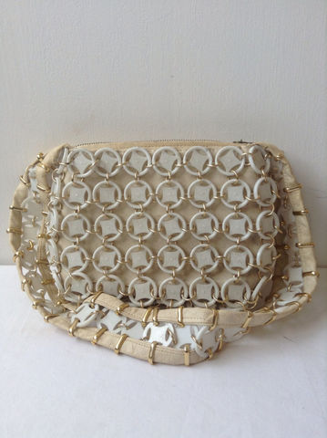White,Mod,Purse,/,60s,Mad,Men,Vintage,Chain,Leather,Bags_And_Purses,Handbag,60s_purse,60s_white_purse,60s_chain_purse,vintage_white_purse,white_shoulder_bag,vintage_circle_purse,circle_bag,Mad_men_purse,Mad_men_bag,50s_white_purse,pop_art_purse,Mid_century_purse,Mid_century_mod,plastic,meta