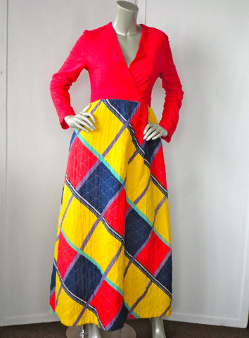 70s,Maxi,Dress,/,Quilted,Vintage,Quilt,Red,Clothing,70s_dress,red_maxi_dress,quilted_dress,quilt_dress,red,purple,green,pink,floor_length,hippie,bohemian,velvet,small_maxi_dress,cotton,polyester,metal