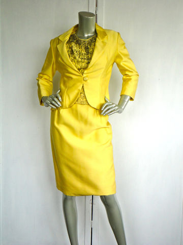 60s,Suit,/,Vintage,Yellow,3,Pc,With,Sequins,and,Rhinestones,Jackie,O,Style,Clothing,Dress,estate_suit,jackie_o_suit,sequin_suit,60s_suit,silk_suit,mad_men,size_small,wedding_suit,cocktail_suit,3pc_suit,vintage_vest,vintage_pencil_skirt,yellow_vintage_suit,silk,sequin,metal