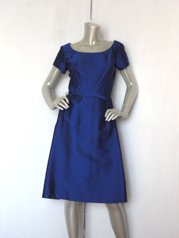 60s,Dress,/,Vintage,Royal,Blue,Cocktail,Glad,Rags,by,John,Douglas,Designer,Clothing,60s_dress,royal_blue_dress,60s_cocktail_dress,vintage_cocktail,evening_dress,bridesmaid_dress,blue_dress,bow_dress,satin_blue_dress,small_cocktail_dress,couture_dress,designer_dress,blue_party_dress,satin,rayon,metal