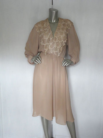 80s,French,Dress,/,Vintage,Lace,and,Sheer,Beige,Cocktail,Large,Clothing,french_style_dress,romantic_dress,lace_dress,sheer_dress,elastic_waist_dress,80s_cocktail_dress,beige_lace_dress,french_lace_dress,custom_made_dress,large_cocktail_dress,sexy_80s_dress,vneck_dress,lace_cocktail_dress,lace,polyester