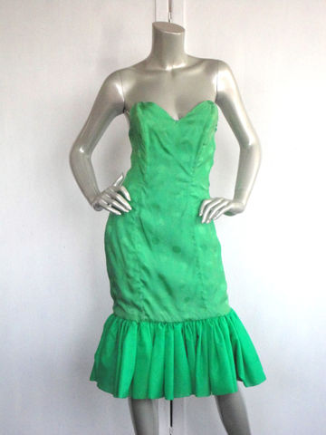 80s,Green,Dress,/,Cocktail,Prom,Vintage,Lime,Polka,Dot,Size,Small,Clothing,80s_green_dress,80s_cocktail_dress,green_polka_dot,lime_green_dress,80s_green_prom,green_ruffle_dress,80s_ruffle_dress,mermaid_dress,green_prom_dress,green_cocktail,feminine,sheath,small_green_dress,silk,taffeta,rayon,metal