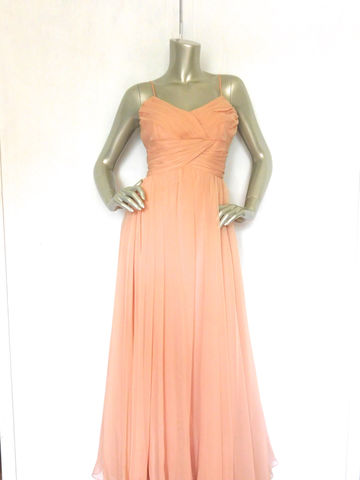60s,70s,Peach,Formal,Dress,Vintage,Long,Cocktail,Bridesmaid,Clothing,Women,bridesmaid_dress,wedding,formal,peach_maxi_dress,60s_70s,peach,pink,flare,sheer,three_layer,cocktail,ball_gown,party_prom,acetate,polyester,metal
