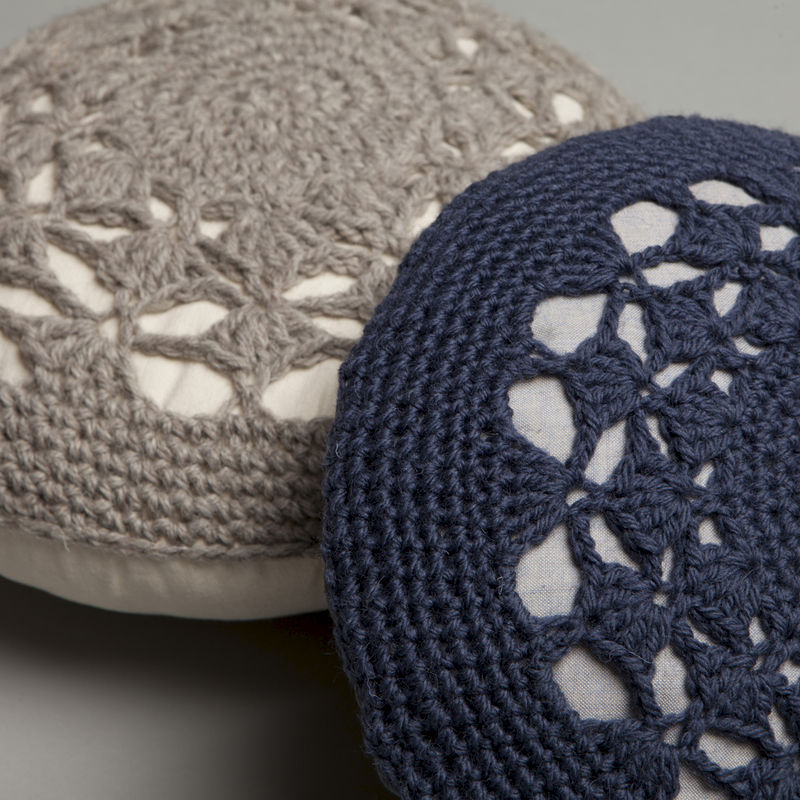 Shell Crochet Cushion - product images  of
