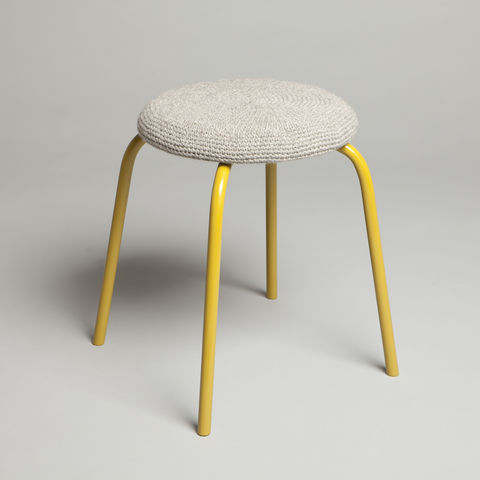Suffolk,Grey,Stool,suffolk grey, stool, furniture, crochet