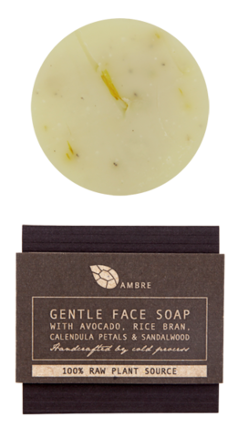 GENTLE,FACE,SOAP,WITH,AVOCADO,,SHEA,,RICE,BRAN,,CALENDULA,AND,SANDALWOOD,50g,Bath and Beauty, Body, raw, natural, organic, skin care, hand moisturiser, hand cream, dry skin