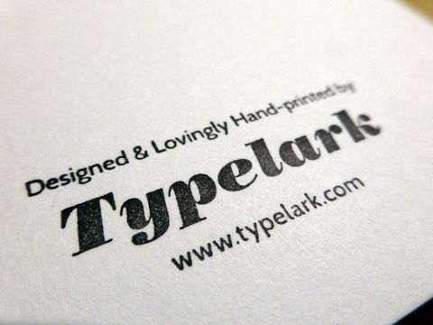 Roll Up Roll Up - Letterpress Typographic Card - product images  of