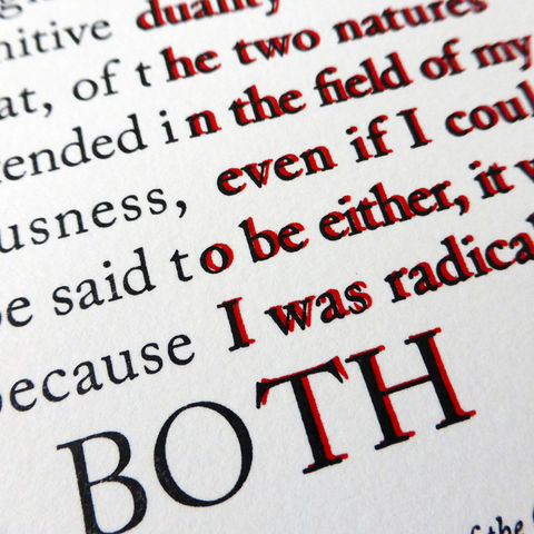 Dr Jekyll and Mr Hyde - A5 Letterpress Typographic Print (Sold UNFRAMED) - product images  of