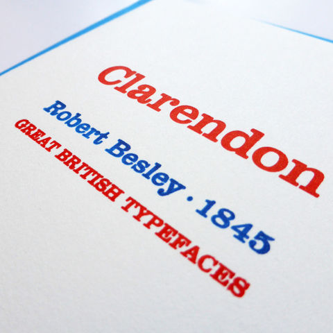 Clarendon: Great British Type - Letterpress Typographic Card - product images  of